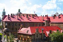 Внутренний двор пожарной части во Львове