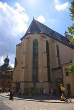 Граненая апсида собора Успения Девы Марии (Латинский кафедральный) во Львове