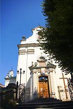 Портал центрального входа костела монастыря францисканцев во Львове
