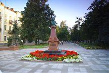 Бюст Пушкина в Житомире на Старом бульваре