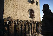 Западная стена дома скульптора на Лютеранской в Луцке