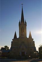 Центральный фасад лютеранской кирхи в Луцке