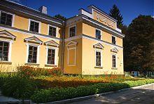 Парковая клумба возле дворца Ганских в Верховне