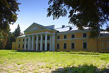 Парковый фасад дворца Ганских в Верховне
