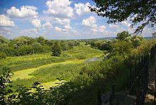 Узкая часть поймы реки Иквы в Дубно