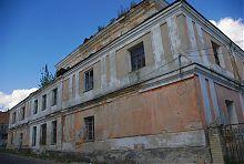 Західний фасад Великої синагоги в Дубно
