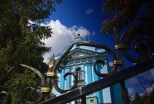 Центральный фасад Рождественского храма в Клевани