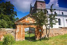 Центральний вхід Благовіщенського комплексу в Клевані