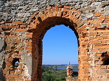 Южный Буг из окна Меджибожского замка