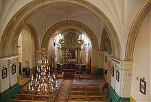 Неф костела Успения Девы Марии в Корце