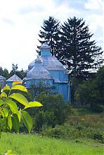 Древняя Георгиевская церковь в селе Кунин