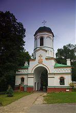 Дзвіниця (надбрамна вежа) храму Богоявлення в Острозі