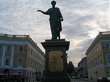 Статуя герцогові Арману де Рішельє в Одесі