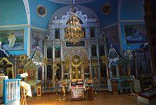 Внутрішній інтер'єр Преображенської церкви в Новій Водолазі