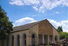 Західний фасад чугуєвських Торгівельних рядів