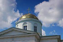 Восстановленный купол собора Покрова Пресвятой Богородицы в Чугуеве