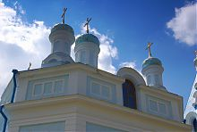 Купола храма Владимирской Божией Матери в Кочетке