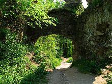 Центральный въезд в Хустский замок