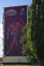 """Рекламный плакат к ЕВРО 2012 стадиона """"Металлист"""" в Харькове"""