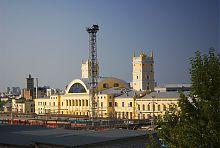 Западный фасад железнодорожной станции Харьков-Пассажирский