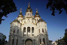 Центральний фасад харківського храму Жон- Мироносиць в Харкові