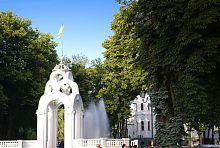 Беседка харьковского фонтана Зеркальная струя