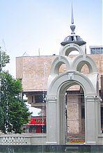 Восточный фасад беседки Зеркальной струи в Харькове