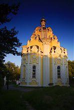 Восточный фасад храма в сквере Воинов-интернационалистов Харькова