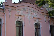 Ризалит центрального фасада особняка М.К. Уткина в Харькове