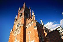 Колокольня харьковского католического храма Успения Пресвятой Девы Марии