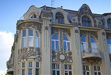 Оздоблення верхніх ярусів колишнього прибуткового будинку Селіванова в Харкові