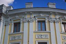 Декор північній частині наукової університетської бібліотеки Харкова