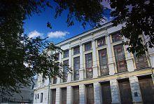 Середня частина будівлі наукової бібліотеки університету ім. Каразіна
