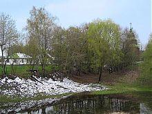 Озеро київського Музею під відкритим небом Пирогово