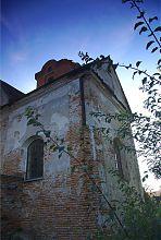 Северная ось трансепта костела архангела Михаила в Голобах