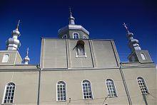 Центральный северо-западный фасад Благовещенского храма в Ковеле