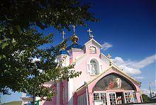 Центральный фасад Воскресенского храма в Ковеле