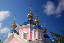 Купола Воскресенского храма в Ковеле