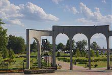 Центральний вхід парку ім. Т.Шевченко у Ковелі