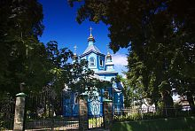 Східний фасад православної церкви Святої Трійці в Олиці