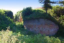 Західний бастіон з земляним валом замку Радзивіллів в Олиці