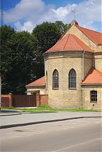 Апсида лютеранського (нині римо-католицького) храму Володимир-Волинського