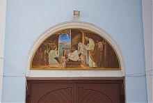 Киот над центральным входом владимирского Рождественского собора