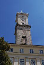 Часовая башня львовской ратуши
