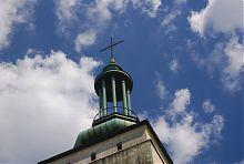 Сигнатура-ротонда башенного завершения костела Непорочного Зачатия Девы Марии