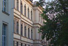 Центральний фасад 9-ого корпусу Львівського національного політехнічного університету