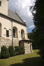 Неф и памятная табличка львовской церкви святой Параскевы Пятницы