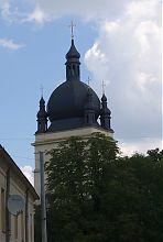 Необарокковое завершение башни-колокольни Параскевской церкви во Львове