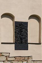 Памятная табличка Пятницкой церкви о фундации строительства  Василием Лупулом