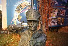 Поручик Ржевский возле заводоуправления Павлоградского химического завода